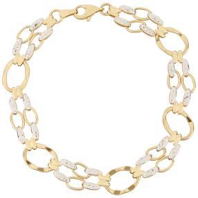 Armband 750 Gold bicolor