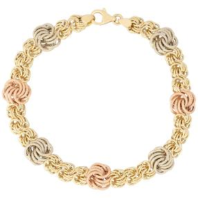 "Armband ""Rosetta"" 585 Gold tricolor"