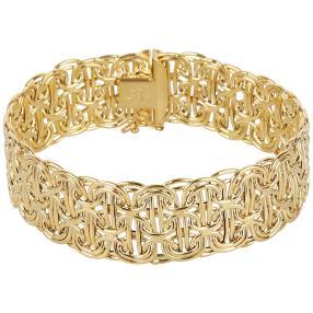 "Armband Königskette ""Phantasie"" 585 Gelbgold"