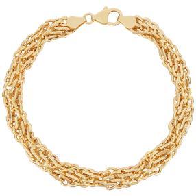 "Armband ""Fantasie"" 585 Gelbgold ca. 21cm"