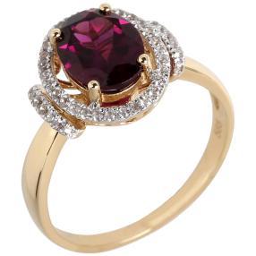 Ring 585 Gelbgold Rhodolith