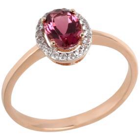 Ring 585 Roségold Turmalin pink