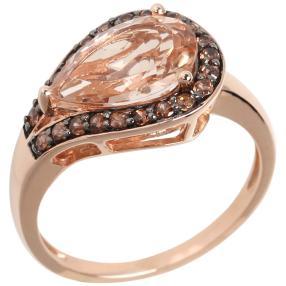 Ring 585 Roségold Morganit