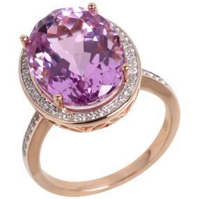 Ring 585 Roségold Kunzit
