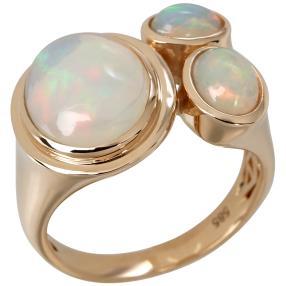 Ring 585 Gelbgold Äthiopischer Opal