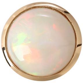 Anhänger 585 Gelbgold Äthiopischer Opal