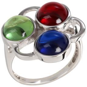 Ring 925 Sterling Silber Bernstein rot grün blau