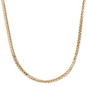 Zopfcollier 585 Gelbgold, diamantiert