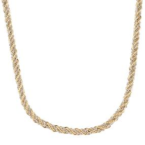 Kordelcollier  585 Gold, bicolor