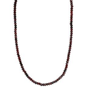 Collier Granat 925 Sterling Silber vergoldet