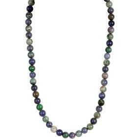 Collier Tansanit natur 925 Sterling Silber