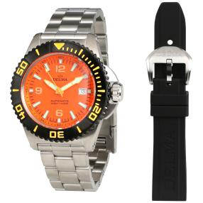 "DELMA Herrenuhr ""Blue Shark"" Automatik orange"