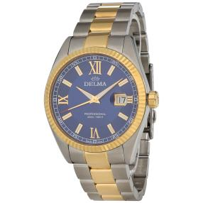 "DELMA Herrenuhr ""Sea Star"" Quarz gold blau"