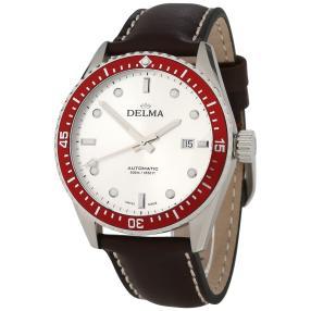 """DELMA Herrenuhr """"Cayman"""" Automatik Lederband"""