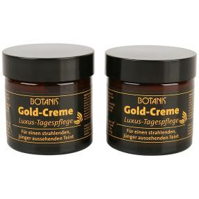 BOTANIS Gold-Creme Luxus-Tagespflege 2 x 50 ml
