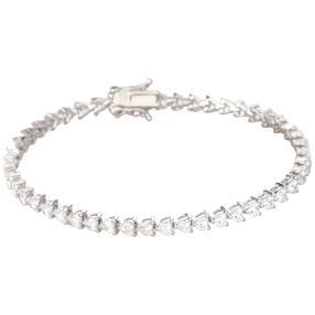 Armband 925 Sterling Silber rhodiniert Zirkonia