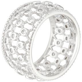 Ring 925 Sterling Silber rhod. Zirkonia