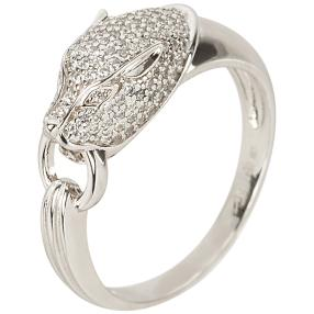 Ring Panther 925 Sterling Silber Zirkonia