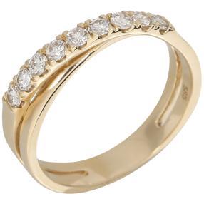 Ring 585 Gelbgold Brillanten lupenrein