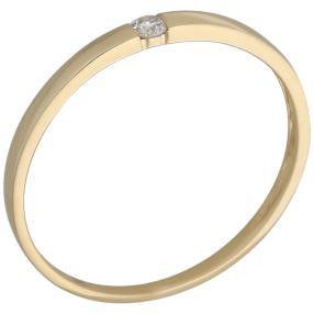 Ring 585 Gelbgold Brillant, weiß, ca. 0.15 ct