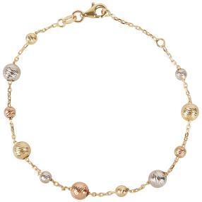 Armband 750 Gold tricolor Kugeldesign