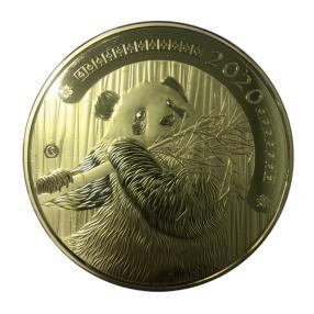 1 kg Pandabär vergoldet