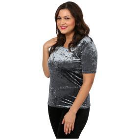VIVACE Samt-Shirt 'Lola' grau