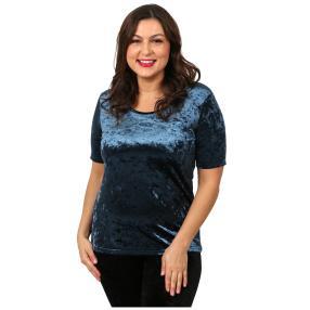VIVACE Samt-Shirt 'Lola' blau