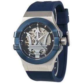 "Maserati Herrenuhr ""Potenza"" Automatik blau"