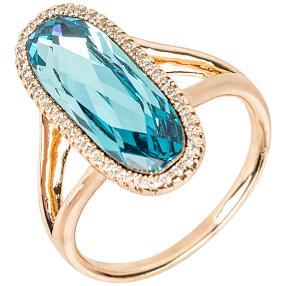 Ring mit Swarovski® Kristallen blau