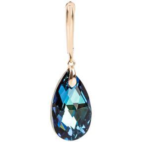 Ohrhänger mit Swarovski® Kristallen blau