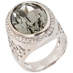 Ring mit Swarovski® Kristallen hellblau