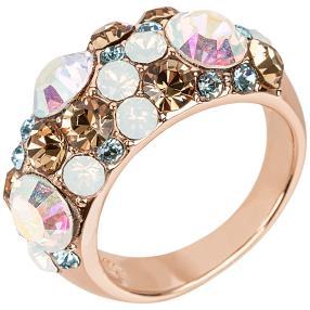 Ring Swarovski® Kristalle weiß + polarlicht