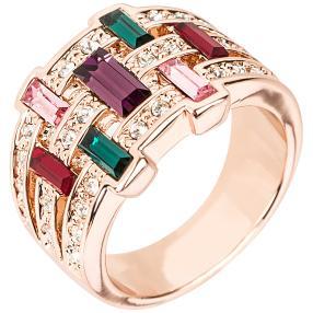 Ring mit Swarovski® Kristallen multicolor