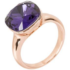 Ring mit Swarovski® Kristallen lila