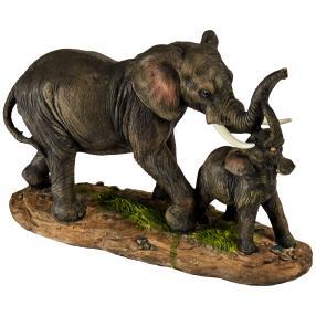 Elefantenmama mit Baby
