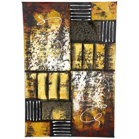 Darimana Aquarell abstrakt schwarz-braun