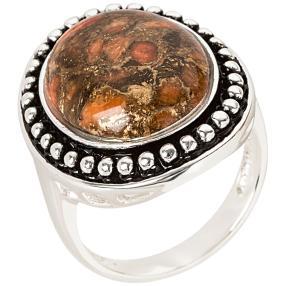 Ring 925 Sterling Silber Koralle rekonstruiert