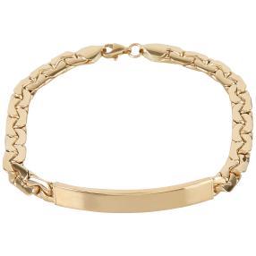 Armband 585 Gelbgold,poliert