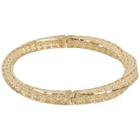 Armreif 585 Gelbgold, teilw. diamanteirt