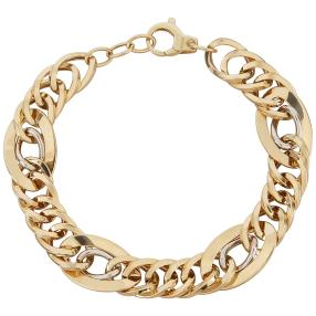 Armband Phantasie 585 Gold bicolor ca. 21cm