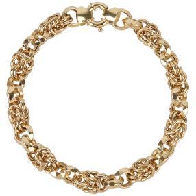 Armband Phantasie Königskettendesign 585 Gelbgold