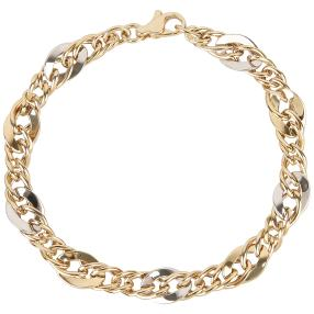 Armband Phantasie 585 Gold bicolor ca. 20cm