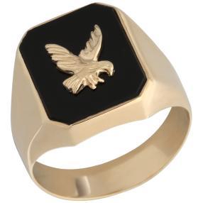 Ring 585 Gelbgold, Onyx