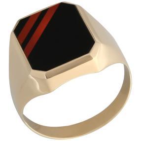Ring Onyx 585  Gelbgold