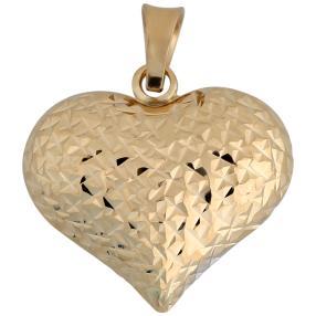 Anhänger Herz 585 Gold bicolor