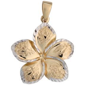 Anhänger Blüte 585 Gold bicolor