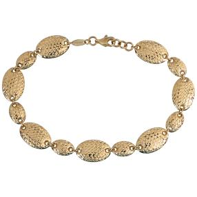 Armband 585 Gelbgold, ca. 19 cm