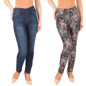 2in1 Wende-Jeans 'Roses' darkblue/multicolor