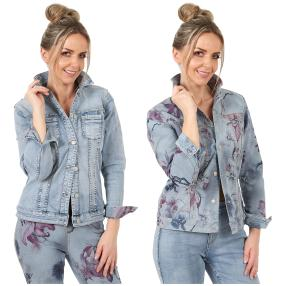 2in1 Wende-Jeansjacke 'Spring' lightblue/multicolo